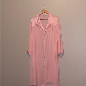 Vintage vanity fair pink sleepwear XXL